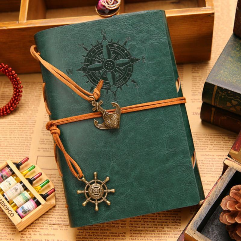 Stationery Planner Journal Classic Notebook Diary Strap Vintage Pirate Replaceable Artificial PU Spiral