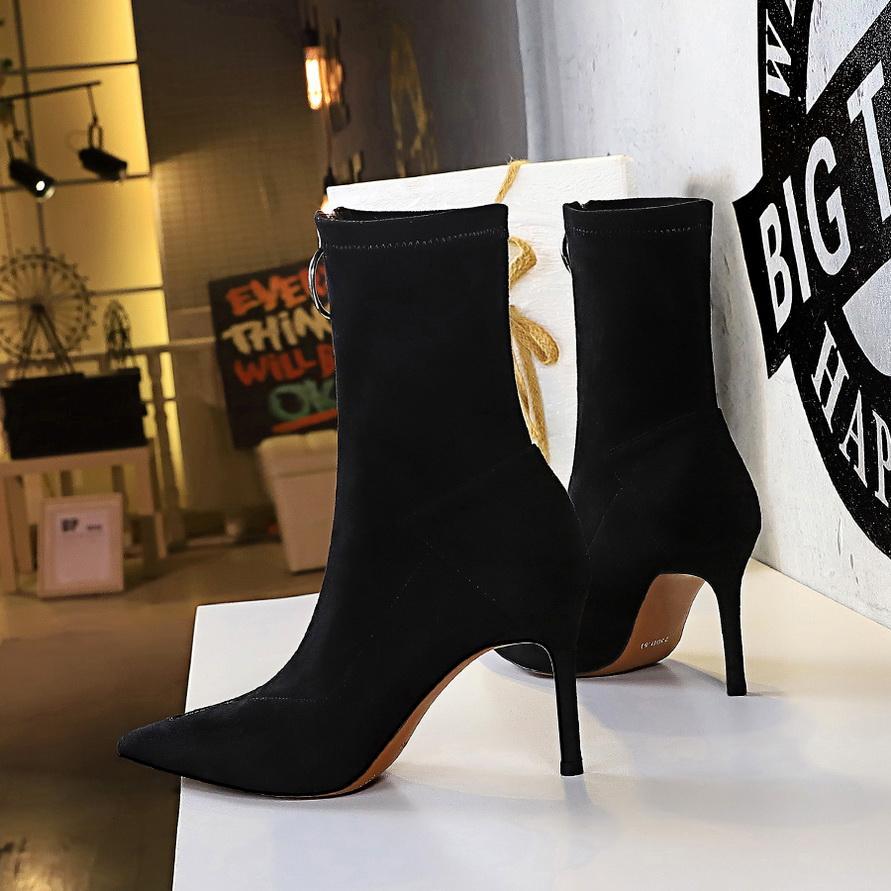 Высокое качество колена высокие сапоги женские мягкие кожаные кожаные зимние сапоги удобные теплые мех женщины длинные сапоги обувь
