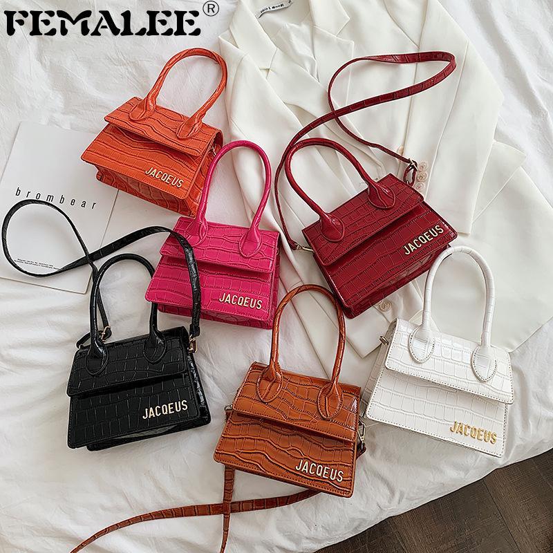 التمساح الصغيرة ساحة المرأة حقيبة يد مصمم العلامة التجارية حقيبة الكتف جلد حمل حقائب crossbody للنساء 2020 purse sac c0603