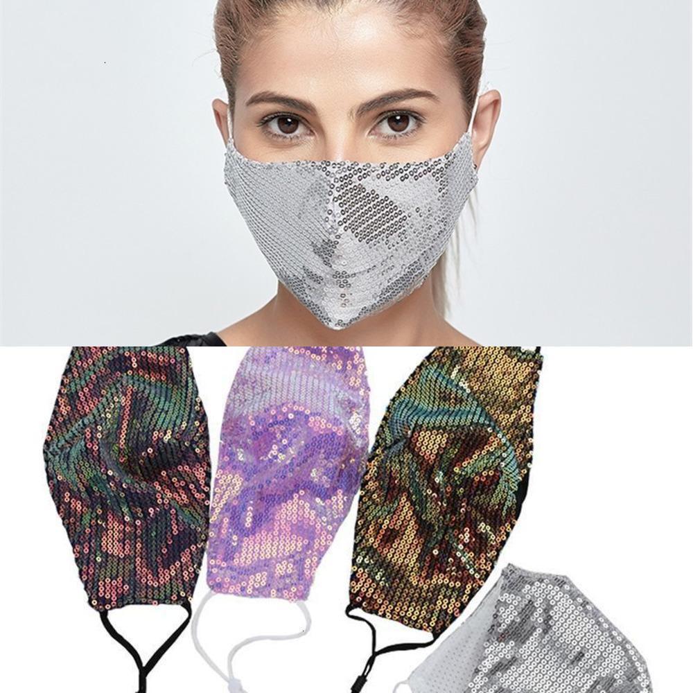 Máscaras enfrentam com desenhista moda lantejoulas verão sol filtro de algodão máscaras de rosto pm2.5 fina máscara colorida respirável 4y6f9