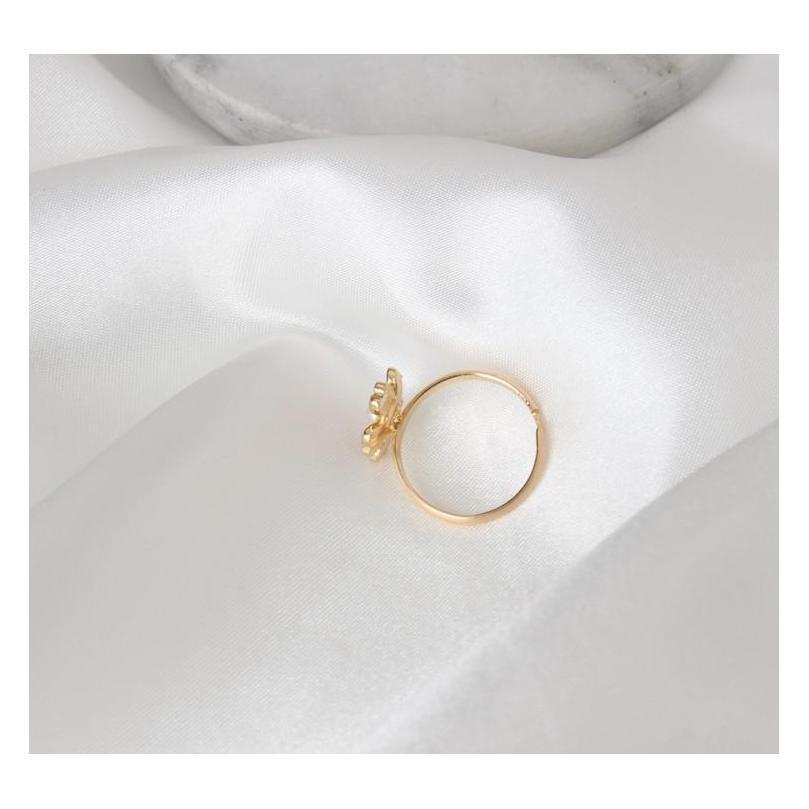 Arte fresca e delicada de gotas abertas de anel de pérolas de cereja rosa sqcmza rainha66
