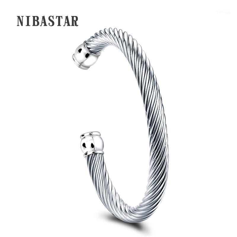 Браслет тяжелые нержавеющие сталь открытый кабель проволоки браслеты браслеты для женщин Pave Crystal высокое качество1