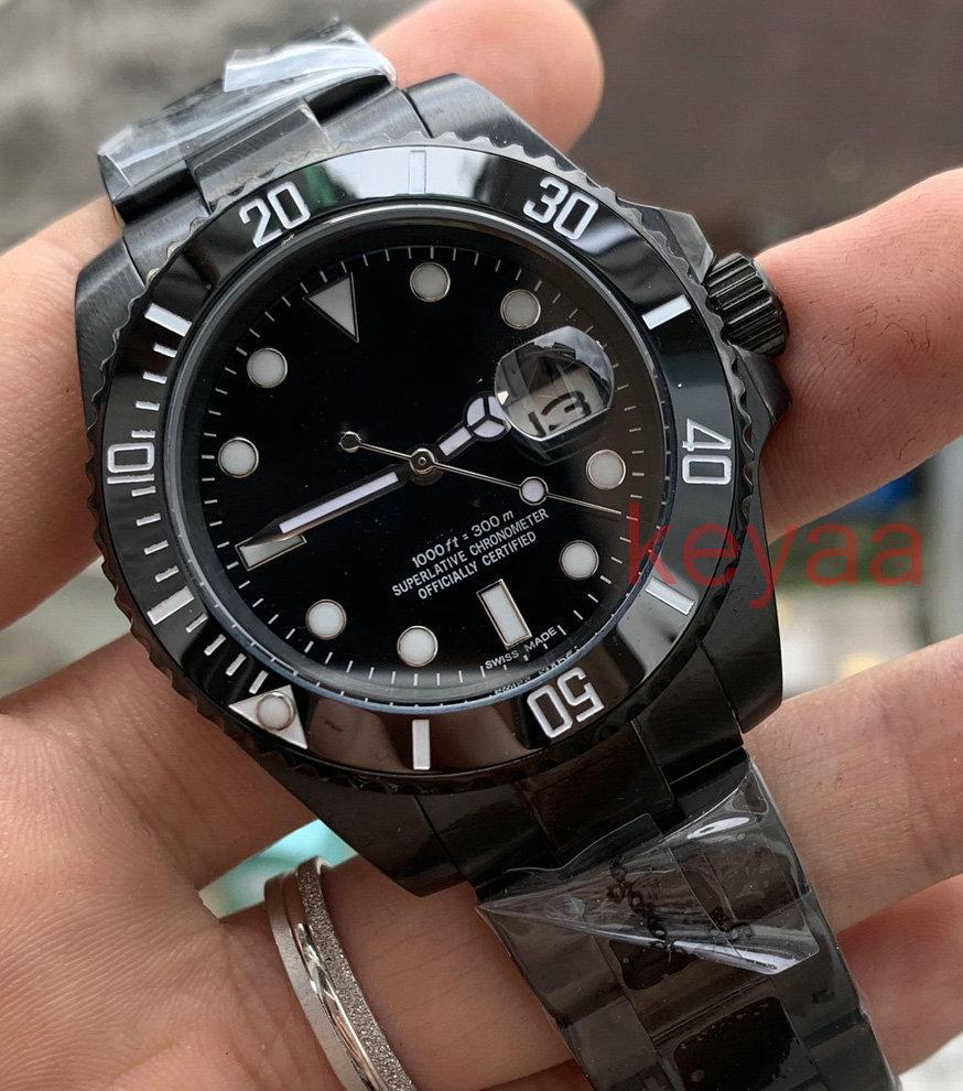 Siyah Yeni Moda Seramik Siyah Çerçeve Yeni Erkek Mekanik SS 2813 Otomatik Hareketi İzle Spor Erkekler Tasarımcı Saatler Saatı KeyAA