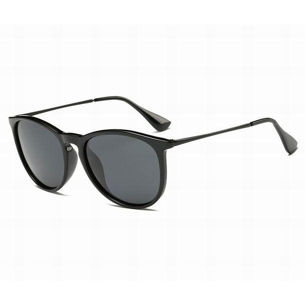 Mode Hommes Sunglasses Top Qualité Vintage Vintage Verres Sun pour Femme Classic Trèfle Métal Cadre en métal Matt Black Driving Shades avec étuis