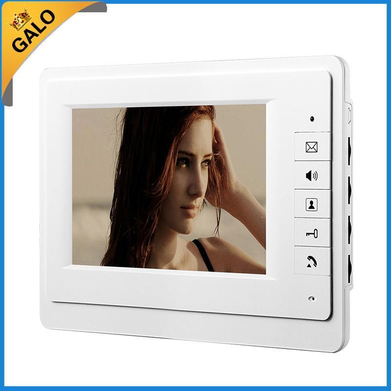 "7"" TFT a cores vídeo porteiro Intercom Doorbell Sistema Kit IR Camera monitor de porteiro viva-voz interfone"