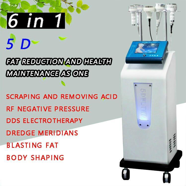 2020 Efetivo Face Multi-Função Elevador Ultrasonic Cavitação 5D Instrumento de Escultura RF Corpo de Vácuo Modelando Máquina de Emagrecimento Gordura