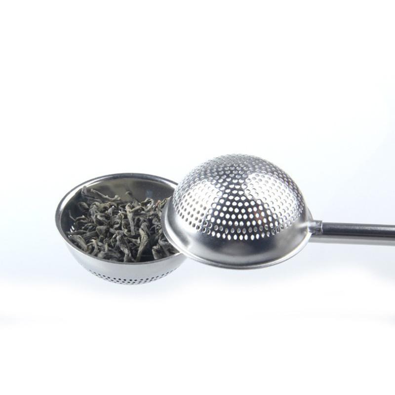 304 Bola de filhas de chá de aço inoxidável empurrar chá infusor solto folha colheres colheres filtro difusor de alta qualidade casa bar bebidas ferramenta