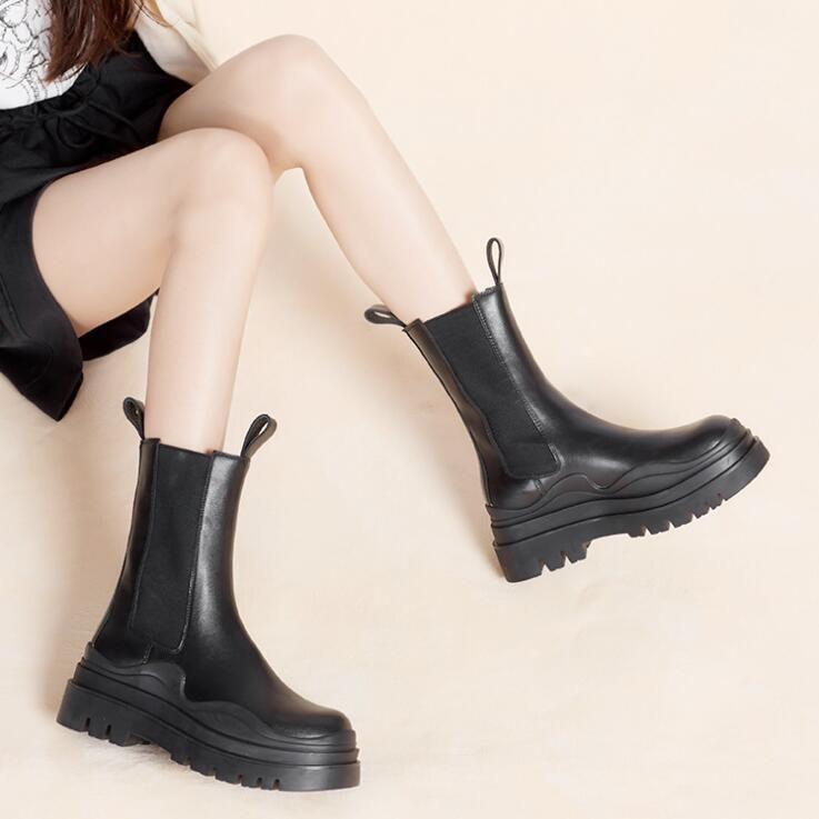 2021 Novo Logotipo Bottega-Booties Botas de Pneu Homem Mulher Plataforma Chunky Boot Lady Boot Designer de Luxo Mulheres Botas Mid-bezerro Designer Boots 35--40