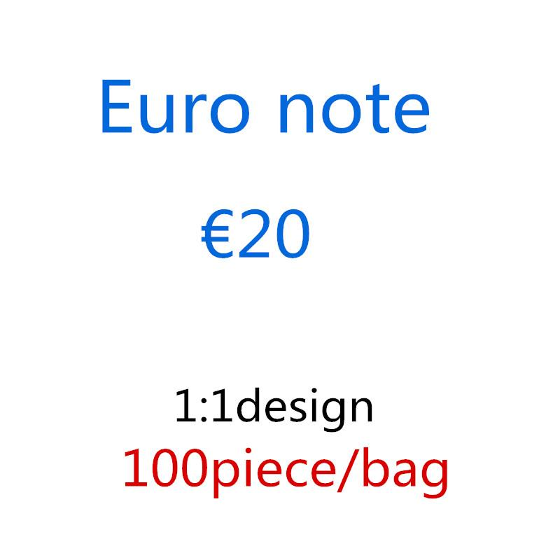 Factory Wholesale Fake Money 20 Euro Bar Props Currency Film faux billet 10 50 100 200 movie paper 100pcs/pack 01