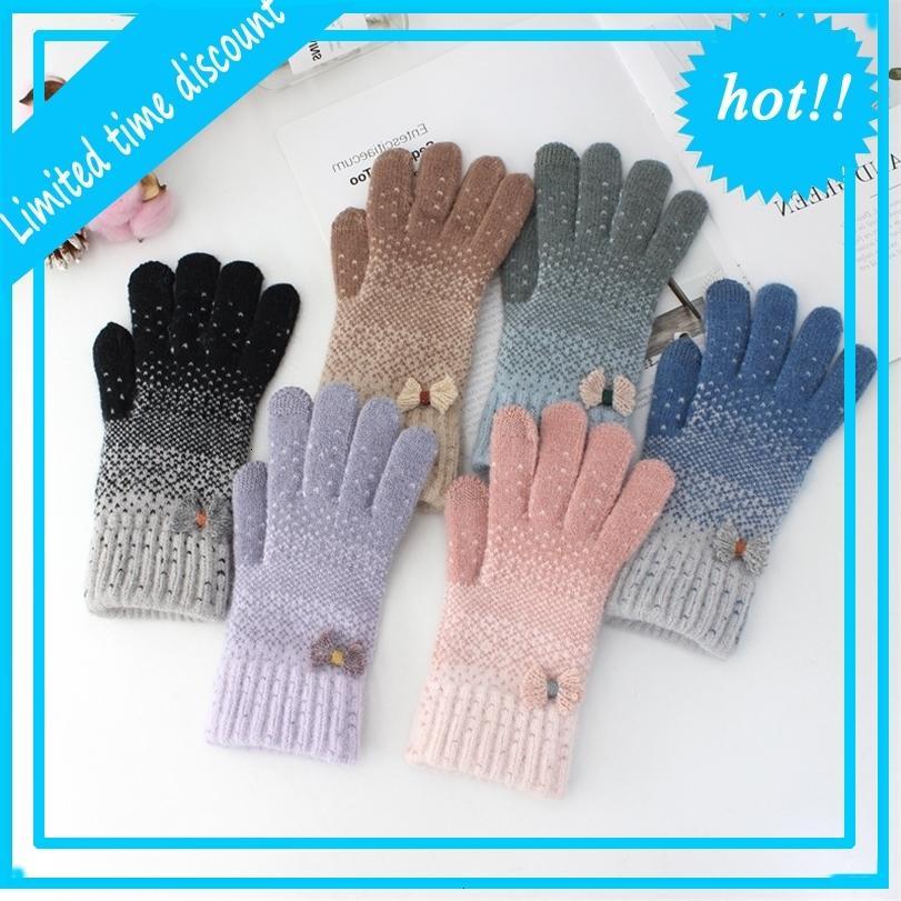 Alta qualità Anti Coniglio Capelli GIOVANILE GIOVANILE Femminile adulti caldi touch screen in lana peluche ispessimento di tutti i guanti da equitazione