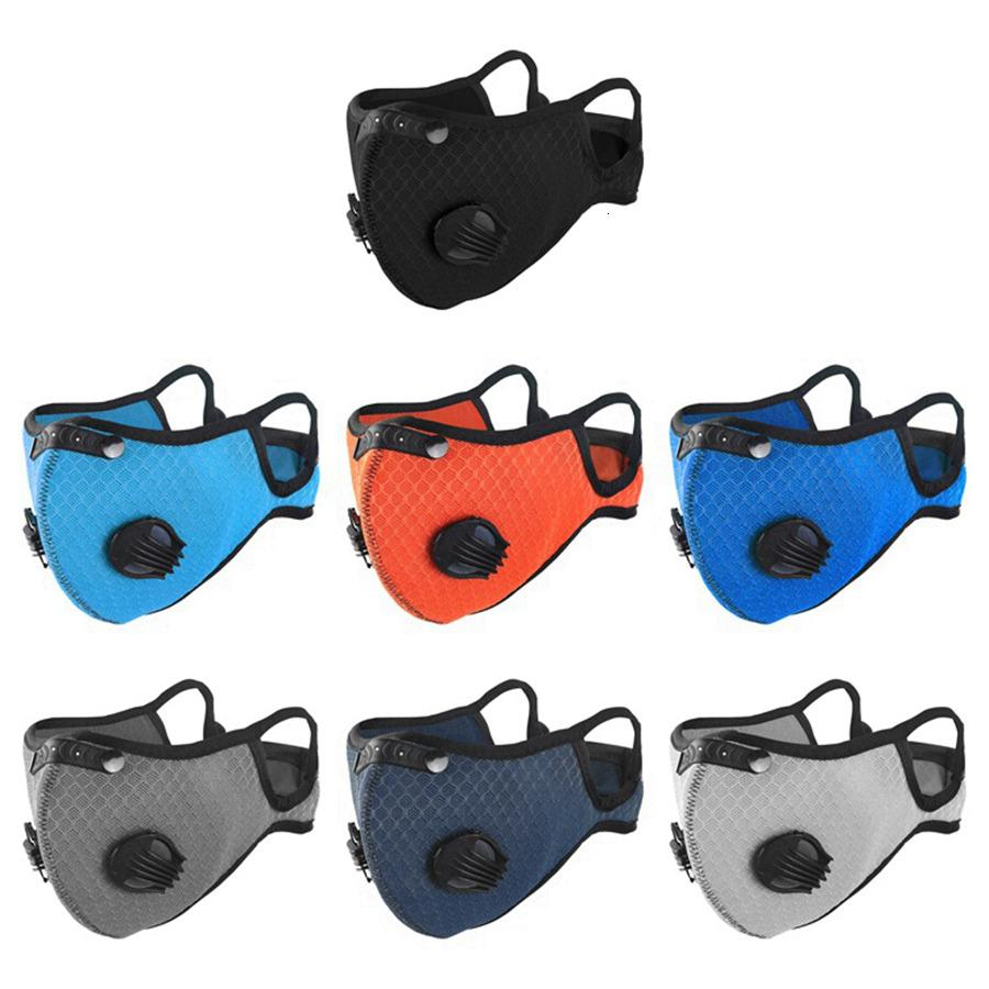 Máscaras 3D al aire libre Ciclismo con la máscara de respiración activa la válvula anti-niebla PM2.5 anti polvo protectora diseñador de la cara Máscaras RRA3329