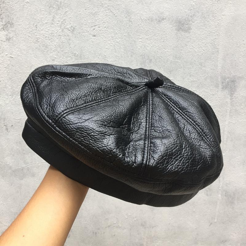 İlkbahar ve sonbahar kış şapka kadınlar için yeni kortikal bere Sekizgen kap kadın ressam kabak