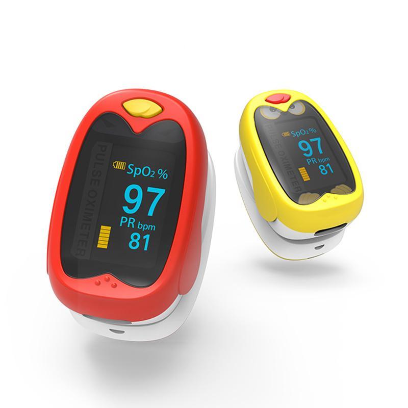 K1 Kids OLED Digital Display Oximetro Wiederaufladbarer Fingerspitzen-Pulsoximeter tragbarer reizender Pulsoximeter für Kinder