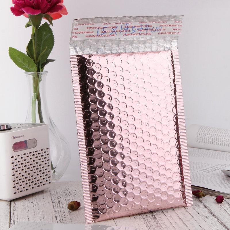 2021SD Express Kabarcık Zarf Torbası Lojistik Ambalaj Gül Altın Folyo Kabarcık Mailer Hediye Paketleme Düğün Favor Film Paketi Çanta