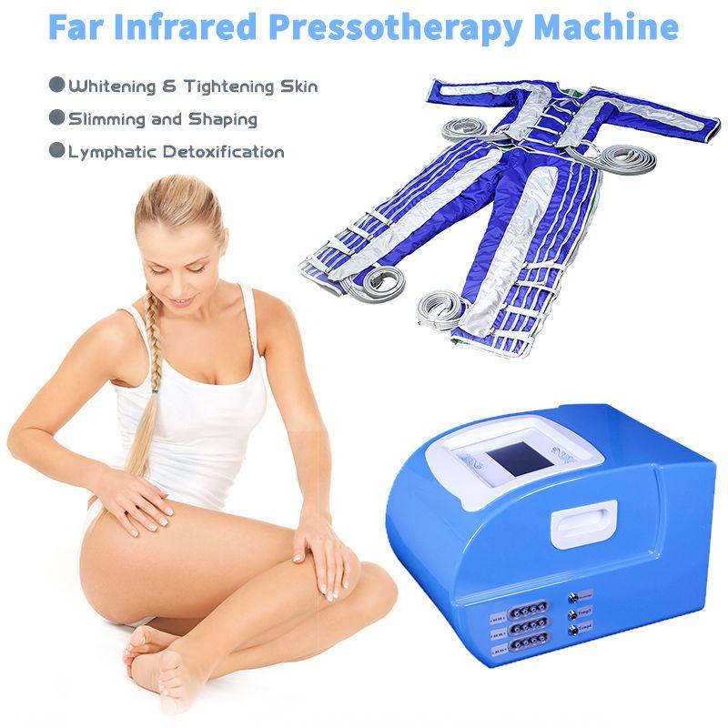 24 PCS Pressione dell'aria Pressoterapia Body Dimagrante macchina Pressoterapia 3 in 1 Equipaggiamento di massaggio del drenaggio linfatico
