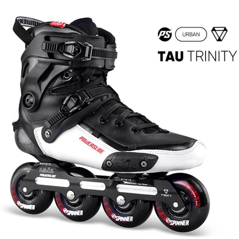 인라인 롤러 스케이트 2021 원래 PowerSlide 타우 트리니티 4 * 80mm 탄소 섬유 속도 성인 스케이팅 신발 무료 Patines