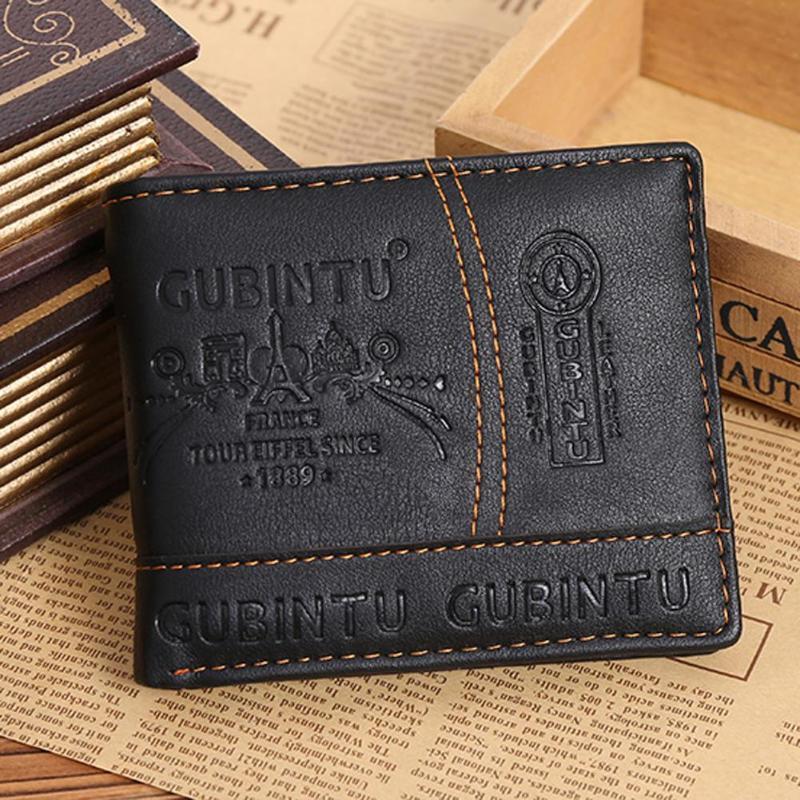 Mens Bifold Bifold Portefeuille Crédit / ID Carte d'identité Porte-monnaie Porte-monnaie pour hommes Portefeuille mâle Beaucoup de poches