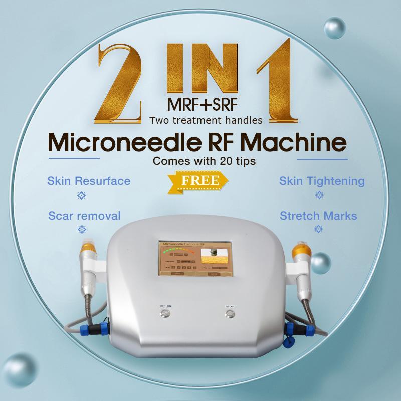 Rejuvenescimento da pele RF Microneedle Máquina fracionária Micro Agulha Care Cuidados Termismo Equipamento de Rádio Frequência Estrias Sistemas