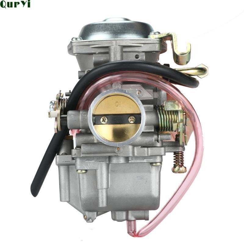 Motosiklet Yakıt Sistemi Karbüratör Carb 34mm Karbüratör Jianshe Hensim 400 JS400 HS400 ATV Quad Yamabuggy 400cc Go Kart Parçaları