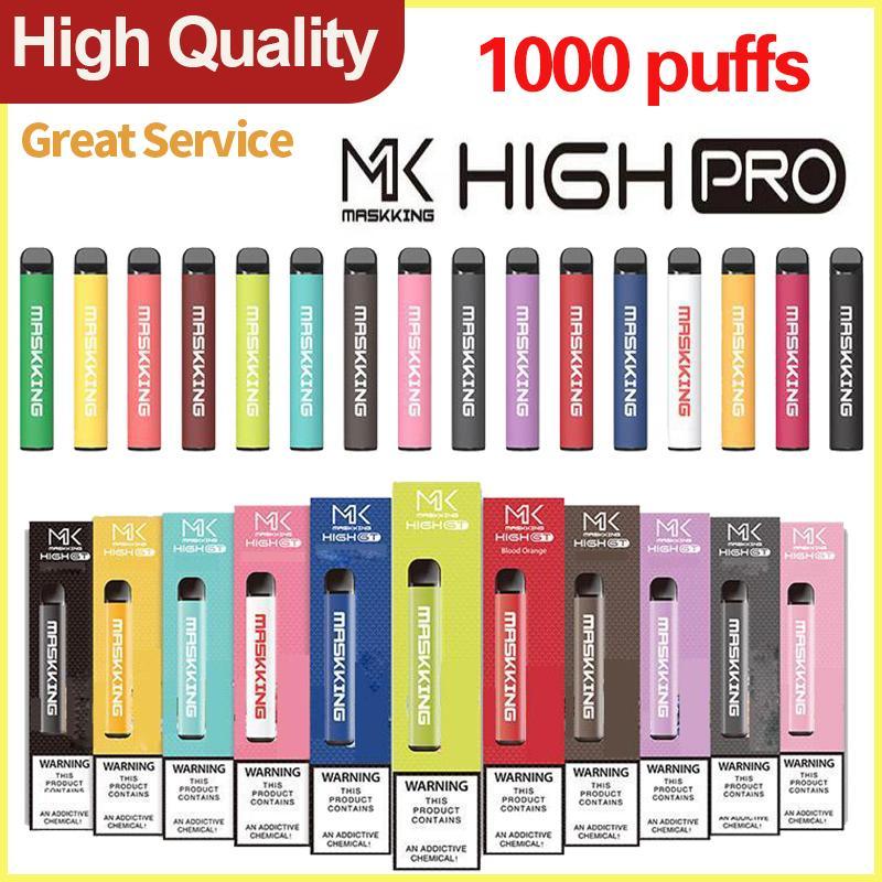 Одноразовый Vape Matsking High Pro 1000Уфуфты Предварительно заполненный паровой картридж локальный POD Kit Stick Style Portable устройств Vaporizer VS Puff