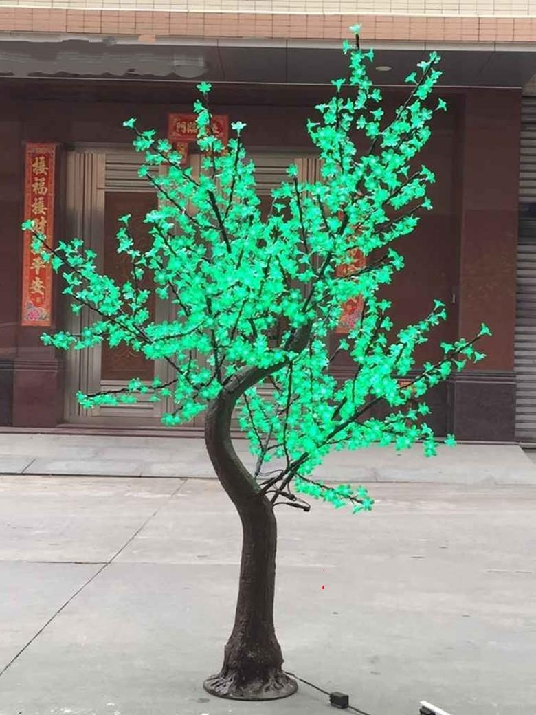 Nova LED artificial flor de cerejeira luz luz de Natal luz 1152pcs lâmpadas LED 2M / 6,5 pés de altura 110 / 220vac à prova de chuva ao ar livre