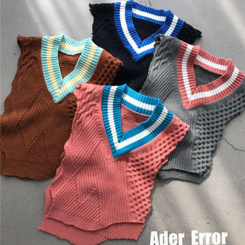 2021 новый FW нерегулярный жилет Ader ошибки свитера женские флис без рукавов Aderrror вязаный пуловер свитер одежда Z5xe