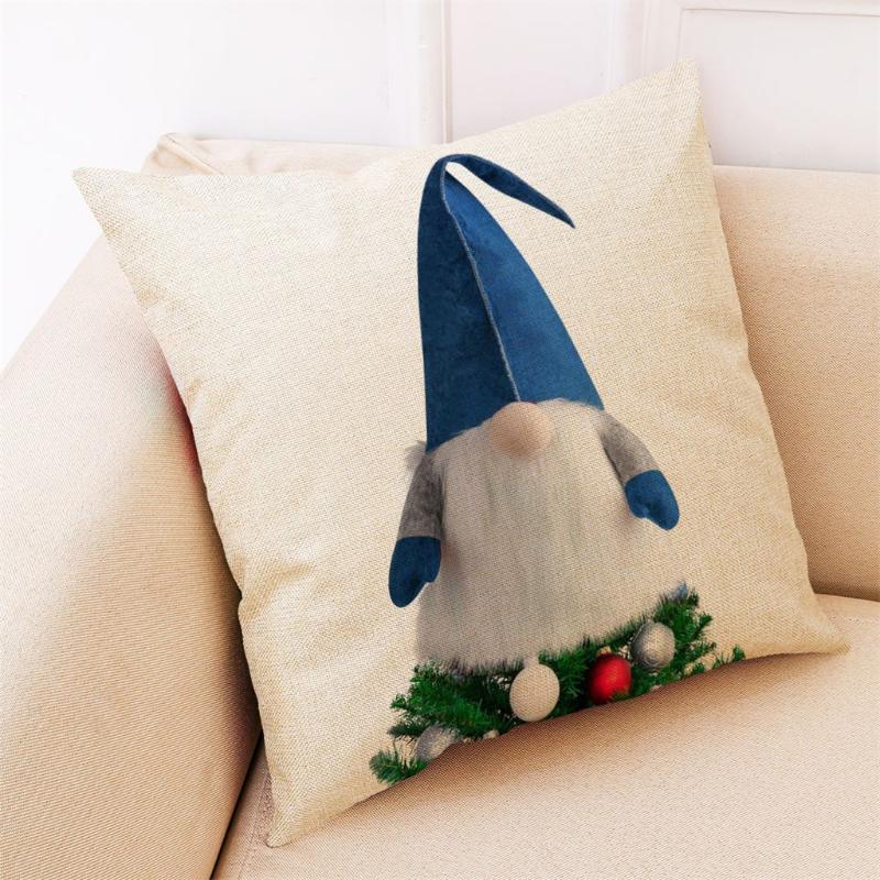 Yastık Kılıfı Noel Ağacı Yastık Kılıfları Gnome Topper Desen Atmak Yastık Kapak Festivali Ev Dekoratif Oluşturma Rahat Şapka
