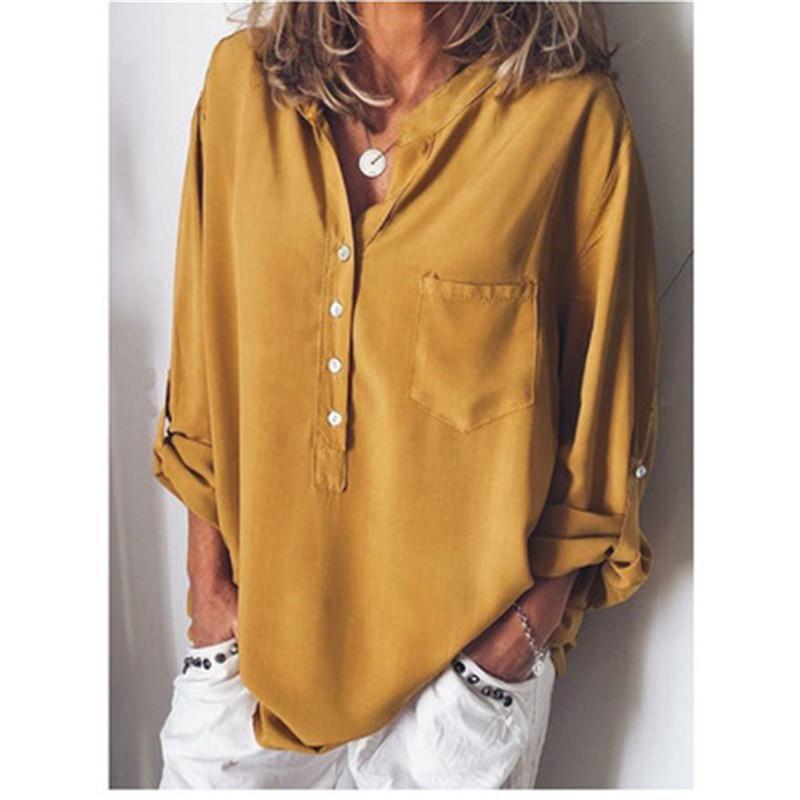 Frühling damen tops blusen langarm lose shirts frauen v neck mode shirts blusas mujer de moda