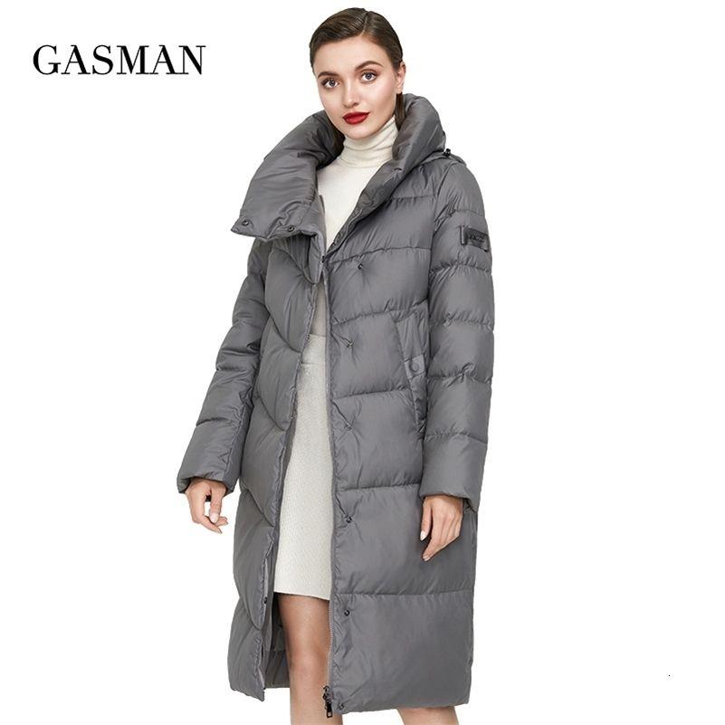 Gasman Women's Winter Jacket for Women Coat Long Warm Down Parka Hooded Outwear Oversize Female Fashion Brand Puffer Jackets 009 201211