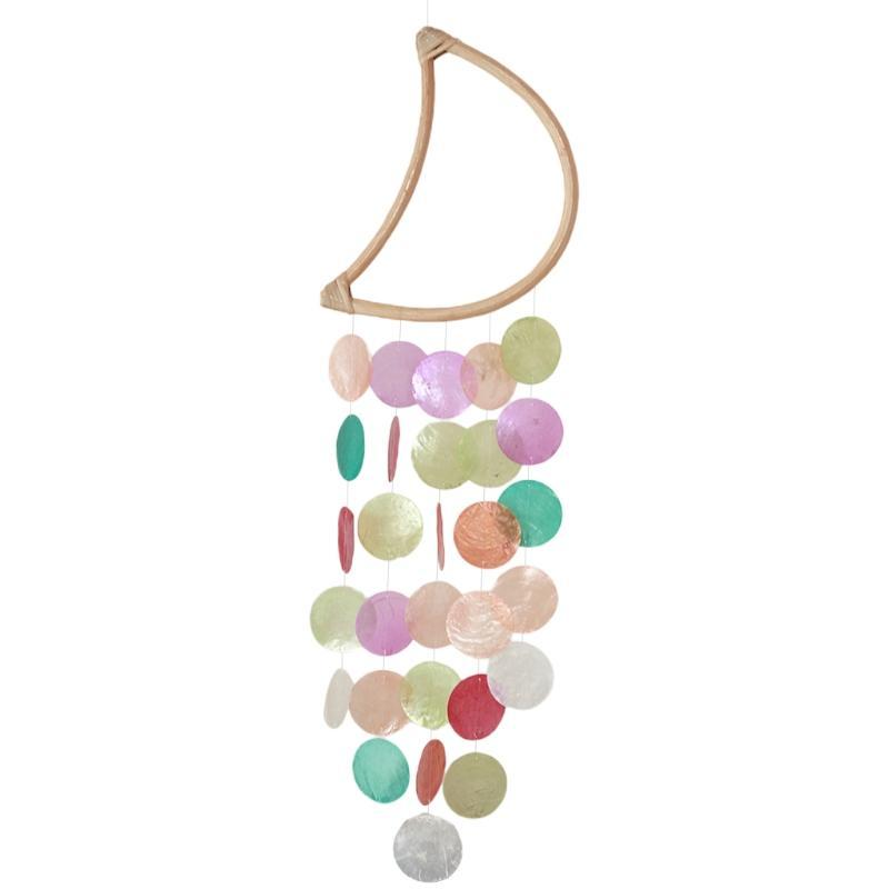Stroller Parts & Accessories T5EC Shell Moon Wind Chime Room Decoration Nordic Home Office Kids Nursery Decor Hanging Windchimes Wall Pendan