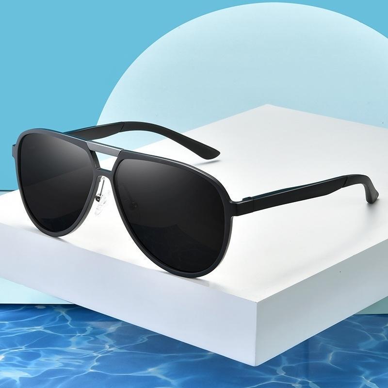 Occhiali da sole L'alluminio Magnesio Polarized Ultra Light Uomos Outdoor Sports Guidando occhiali da pesca 9820