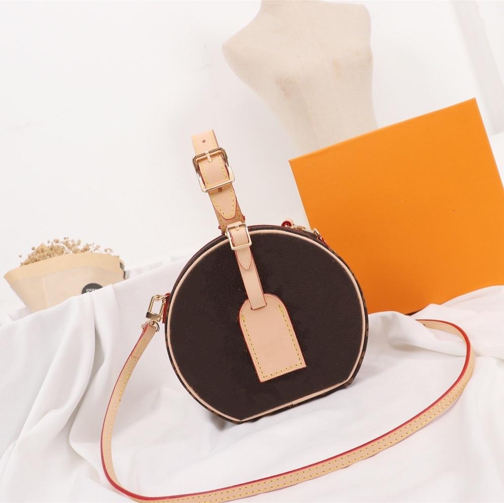 Klassische Blume Reverse Runde Frauen Mode Crossbody Petite Broite Chapeau Iconic Hatbox Entzückender Tag bis Abend Mini Pratical Phone-Tasche