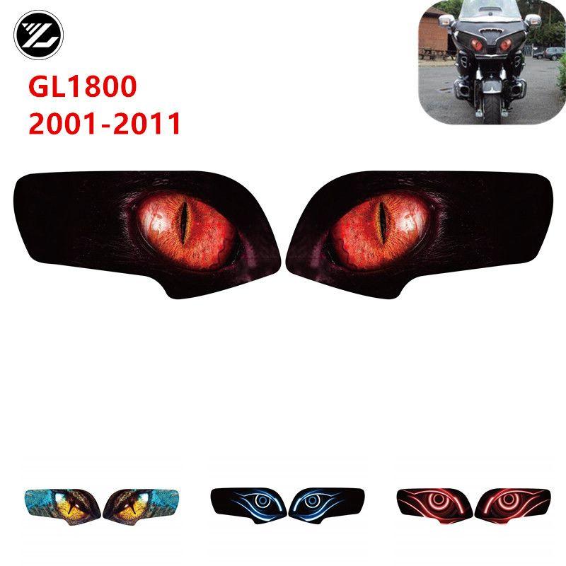 Para Honda GL1800 Gold Wing 2001-2011 Accesorios para motocicletas Frontal Carne de faro Guardia Pegatina Pegatina Pegatina de protección de la luz