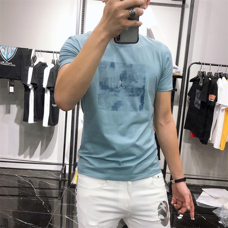 Summer Short 2021 Новая корейская печать Trend Trend Trend Trend Tren Willave Красивая футболка мужская одежда мужская
