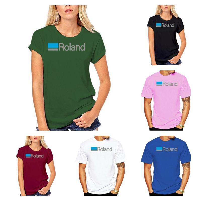 T-shirt da uomo T-shirt Roland T-Shirt Giapponese Musica sintetizzatore DJ Tee Shirt S-5XL Uomini Donne Cartoon Casual Short O-Neck Broadcloth CN (Origine)