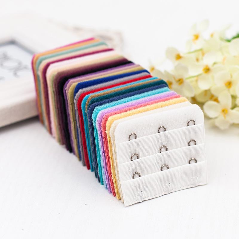 Senhoras úteis 3 linhas 3 ganchos sutiã sutina longo extensão gancho clipe nude fivela de cinto ajustável com multi-cor