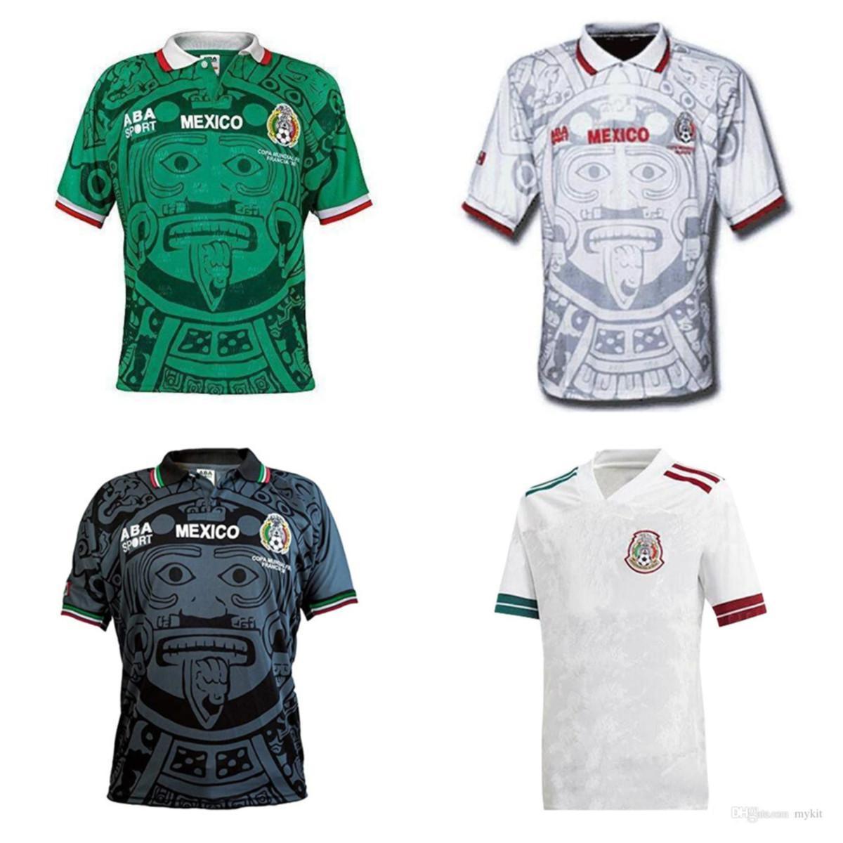 2020 New Mexico White Soccer Jersey National 2019 المكسيك Chicharito Lozano Guardado Carlos Vela Raul Blanco Ramirez Soccer Jersey