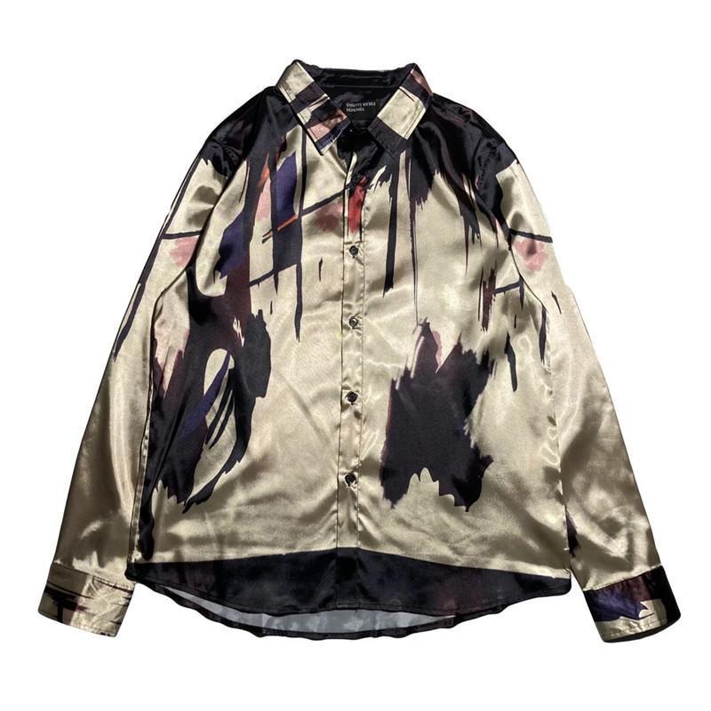 Camisas Casuales de Hombres Streetwear Erd Shirt Mujeres Hombres Británica Melancholy Rico Segunda Generación Abstracto Art Tees E.R.D Vestido