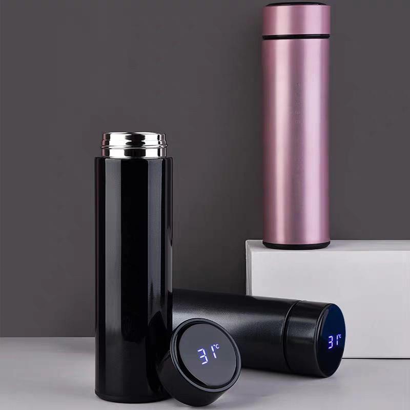 حار بيع جديد موضة الذكية القدح عرض درجة الحرارة فراغ الفولاذ المقاوم للصدأ زجاجة ماء غلاية كوب الحرارية مع شاشة LCD لمس الشاشة هدية كأس