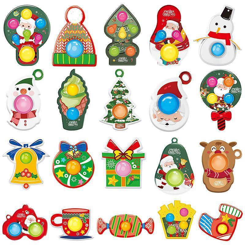 Fidget Decompression Silicone Rainbow Camuflagem Abacaxi Brinquedos Diversão Stress Relief Toy no trabalho Abrindo o Jigsaw Flip pressionando as crianças de espuma de dedo