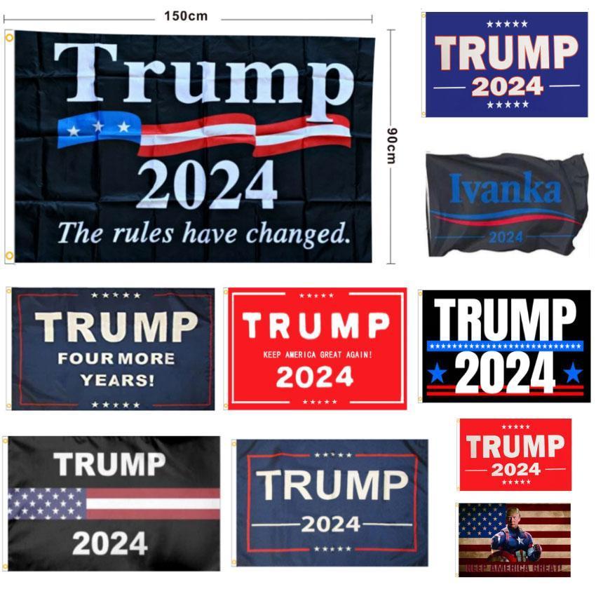 الولايات المتحدة الأسهم الانتخابات راية الرئيس دونالد ترامب انتخابات الانتخابات 2024 إبقاء أمريكا عظيم مرة أخرى أعلام اليد DHL