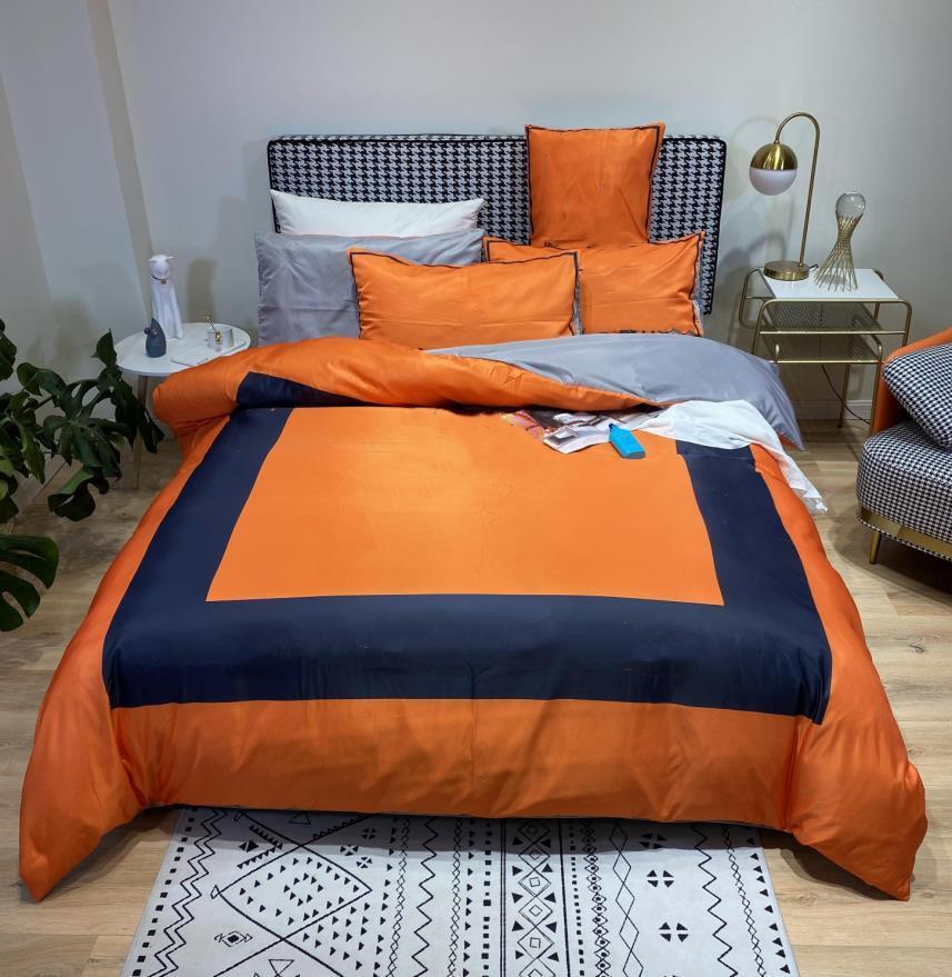 Ensembles de literie de designer Queen Taille Taille Fleurs Style Style Couverture Couverture Couverture PillLowCases Couverture de couette à lits à glissière à glissière