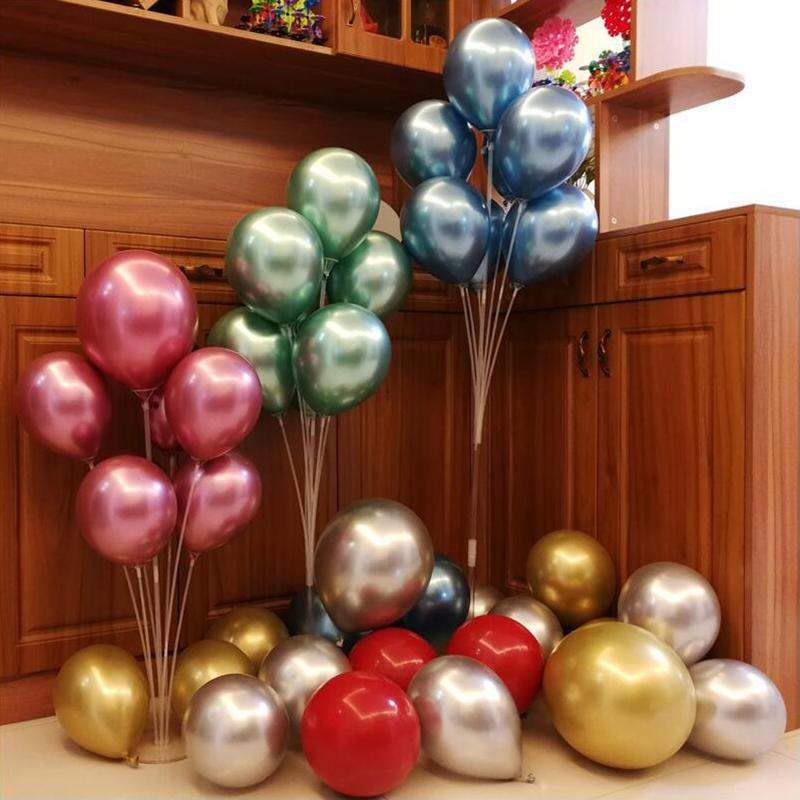 7 Tüpler / Set Balon Standı Balon Tutucu Doğum Günü Sevgililer Parti Dekorasyon Çocuk Yetişkin Kemer Masa Ballon Aksesuarları Malzemeleri