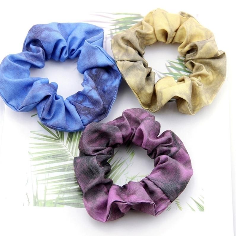 2021 Cravate Colory Cheveux Scrunchies Hairband Ponté de queue de cheval Bandeau élastique Bandes de cheveux Scroucheux Cheveux Cheveux Scrunchie Pour Femmes Filles H26BE2O