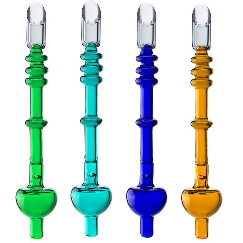 Vaping_dream CSYC Y211 environ 5,9 pouces 4 anneaux tuyaux en verre de verre lisse airflow huile dabber buoglass tabagisme Tuyaux de main