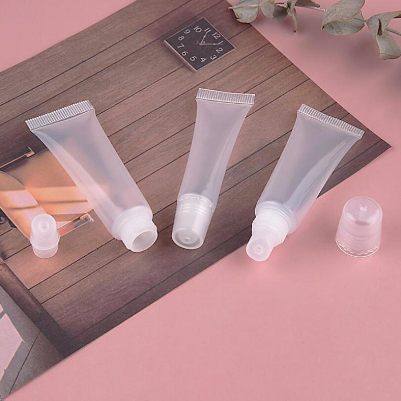 Mini 8/10 / 15ML Suave Labial Vacío Tubo Gloss Cosmetic Cream Contenedores Shampoo Facial CleanSer Tubo Botellas de recarga 200pcs / lot