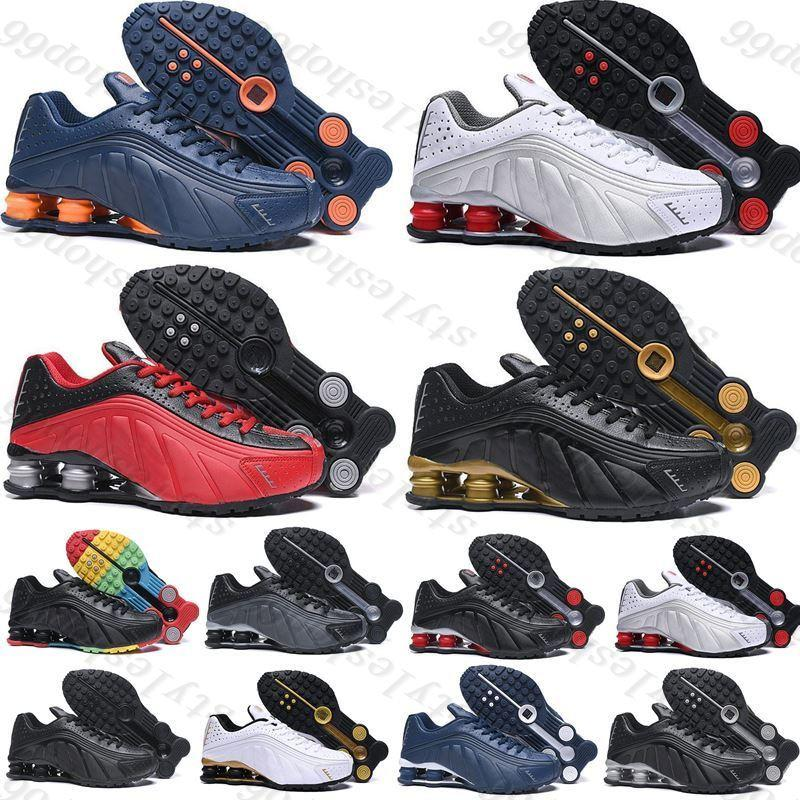 2021 Новый оригинальный Доставка R4 Спортивная обувь для мужских Женщин Тройное Черное Белое Золото Оз NZ 301 Кроссовки Мужские Тренеры Беговые Обувь Размер 36-46