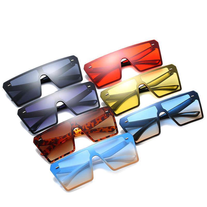 Moda vintage Nuevo hombre clásico Mujeres grandes rectángulo marco sombras de plástico de gran tamaño cuadrado gafas de sol 21s
