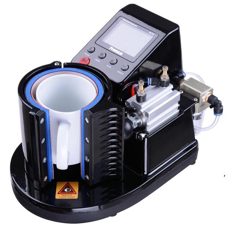 شحن مجاني مخصص القدح الطابعة الهوائية التلقائي ST-110 التسامي القدح آلة الصحافة الحرارة AHD5356