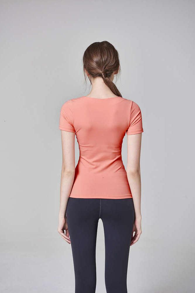 tracksuits skirt sleeve T-shirt dry short running Tight fast Sexy breathable training sports top Yoga suit women Designer